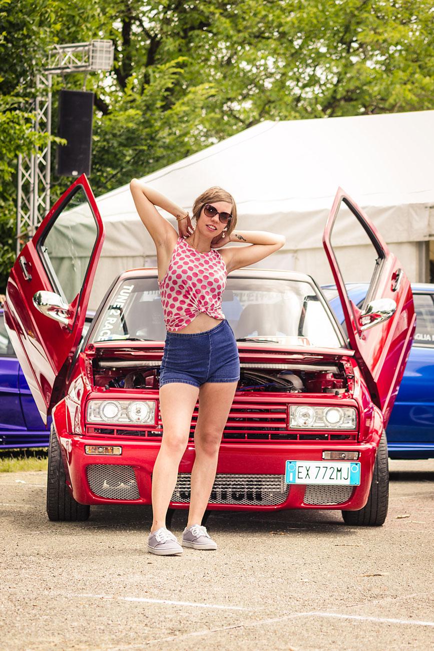 Model Lisa beim Streetracer Tuning Treffen