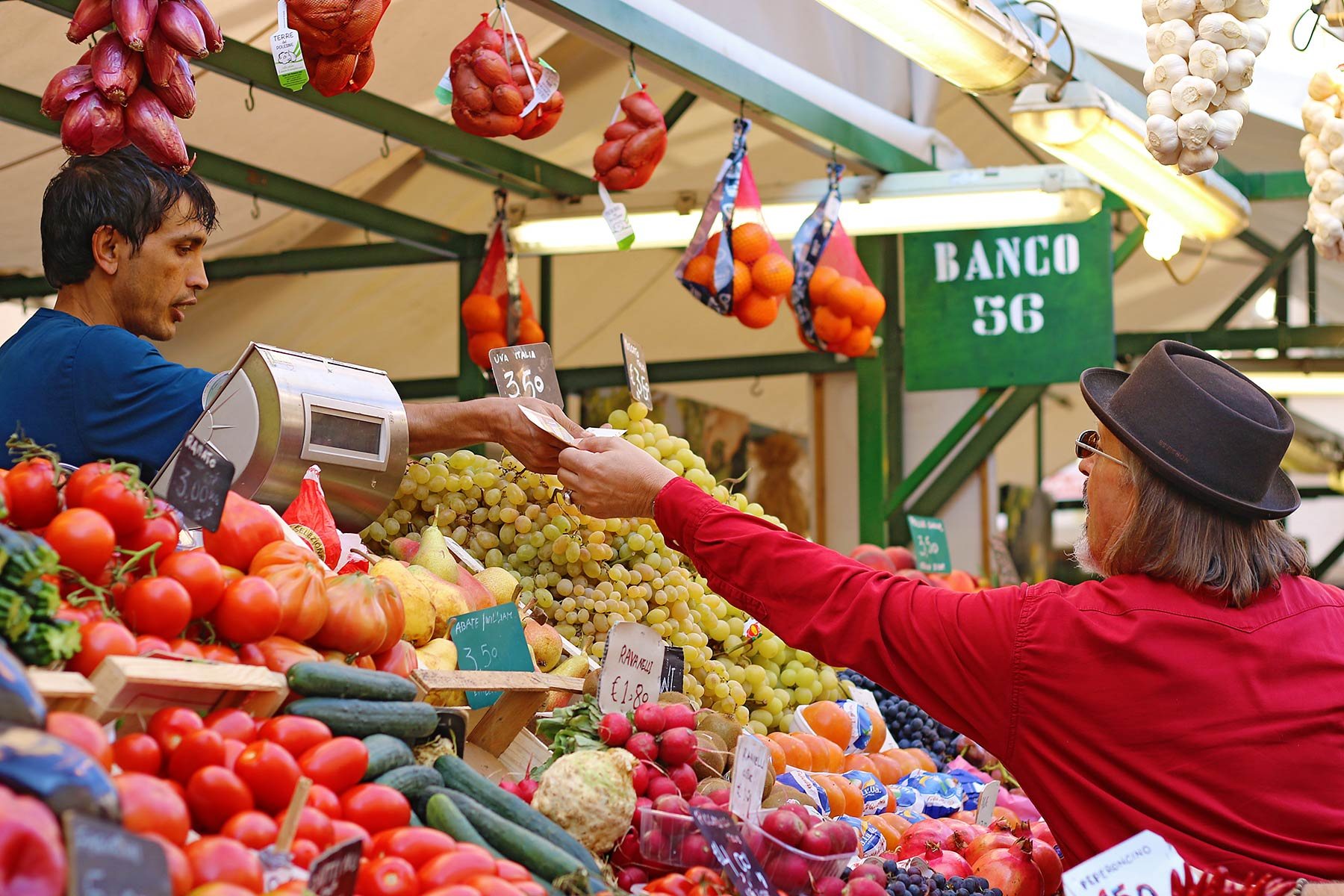 Obstmarkt Bezahlung