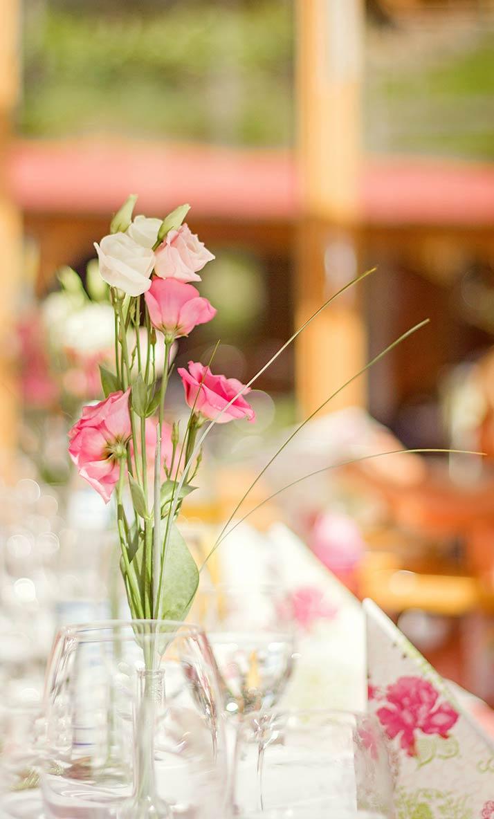 Blumen Gedeck Fotografie Südtirol