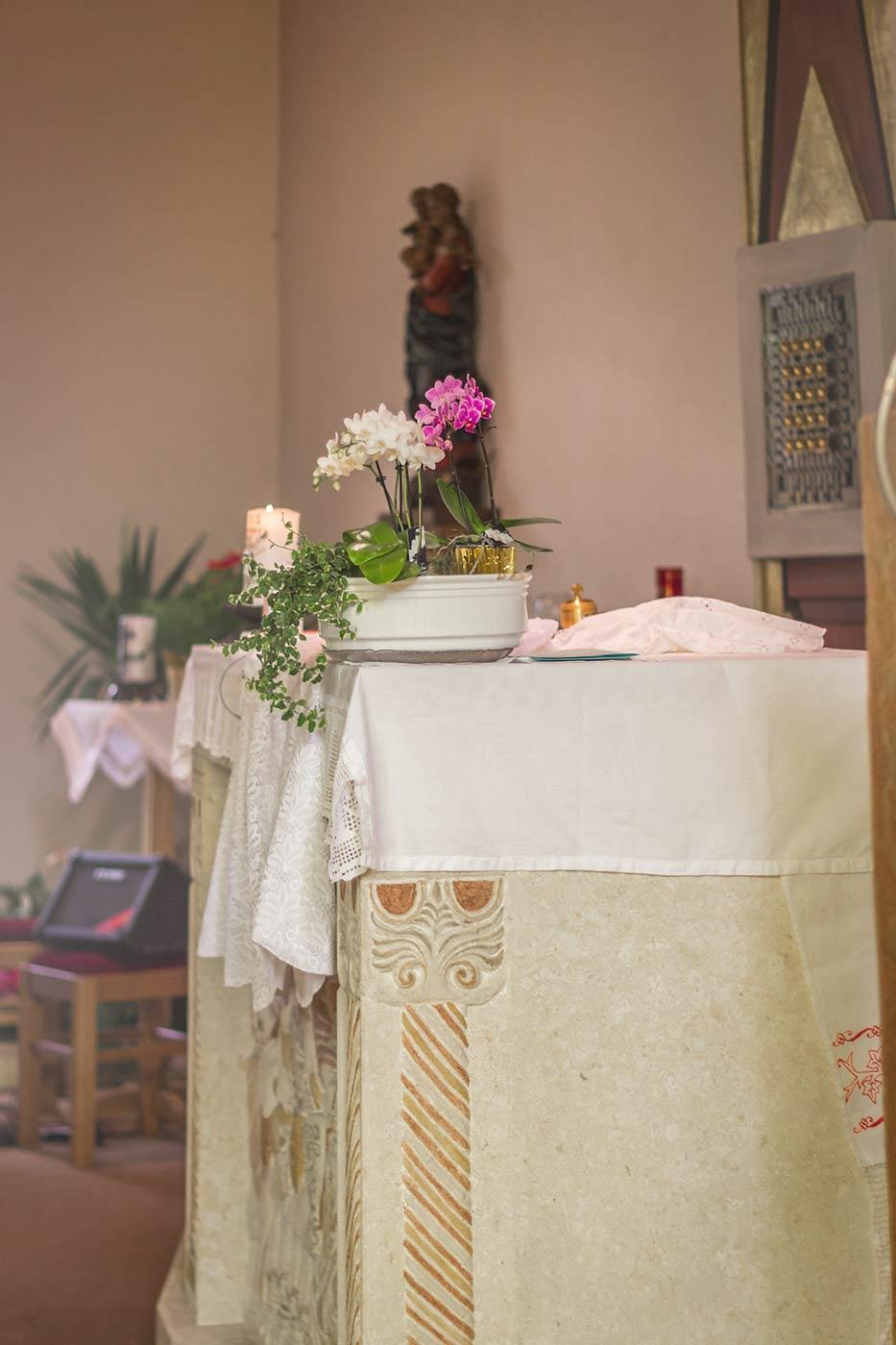 Taufe in Verdins, Südtirol