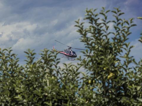 Streetracer Tuning Treffen mit Helikopter