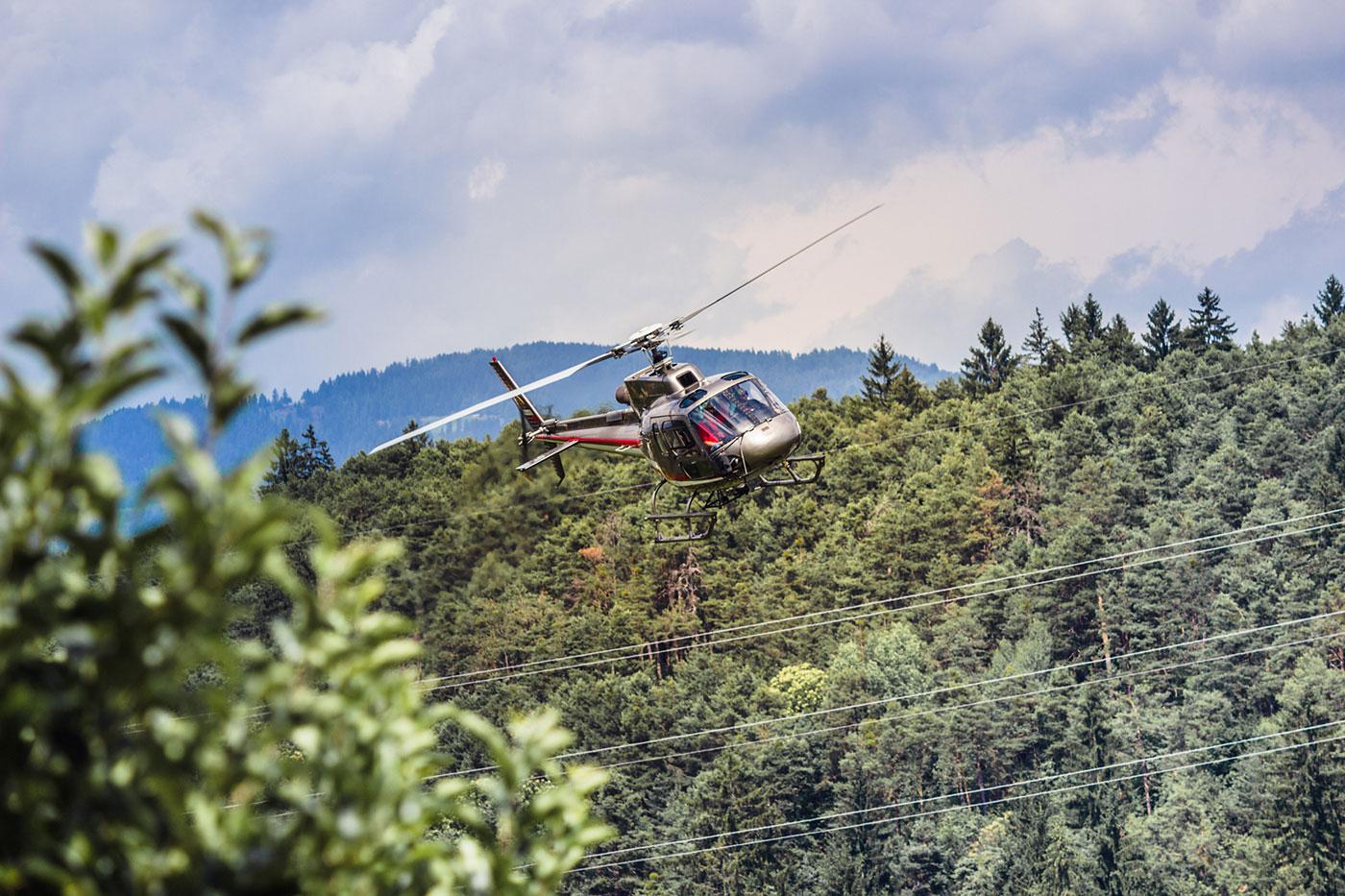 Helikopter beim Streetracer Tuning Treffen