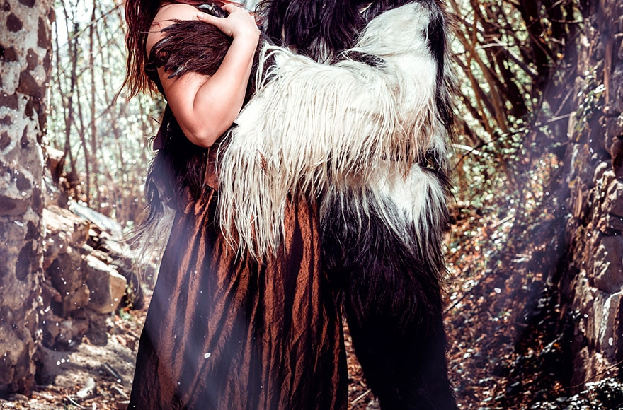 Krampus Shooting mit Model in Lana